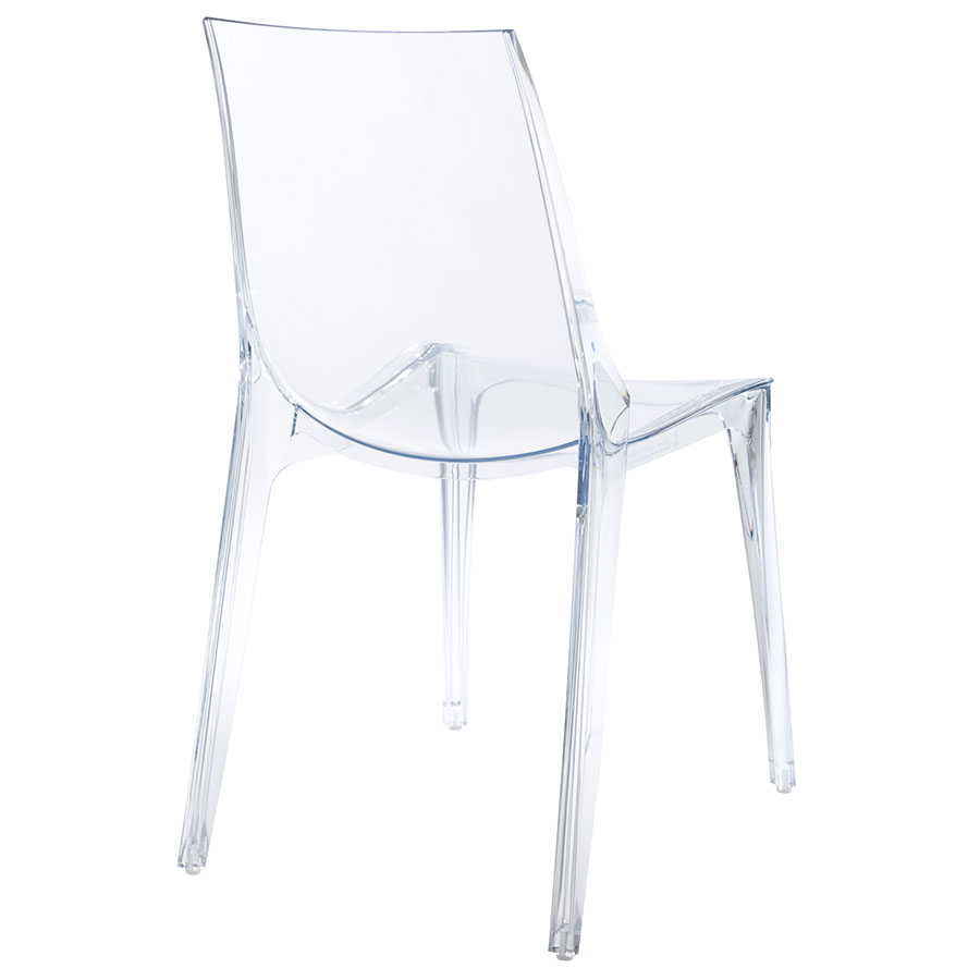 Verona Modern Transparent Side Chair - Back View