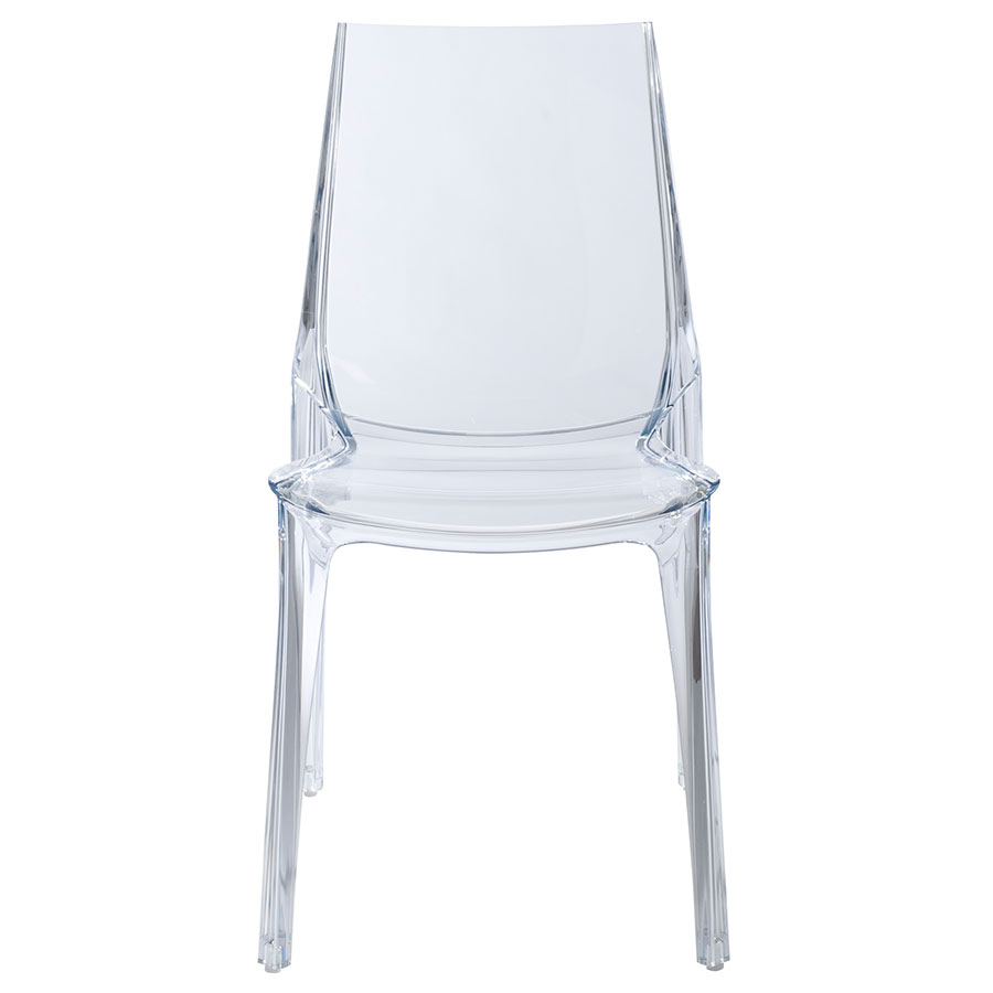 Verona Modern Transparent Side Chair - Front View