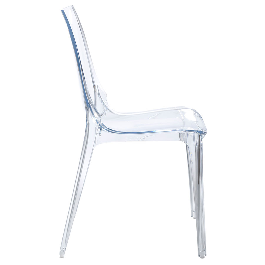 Verona Modern Transparent Side Chair - Side View
