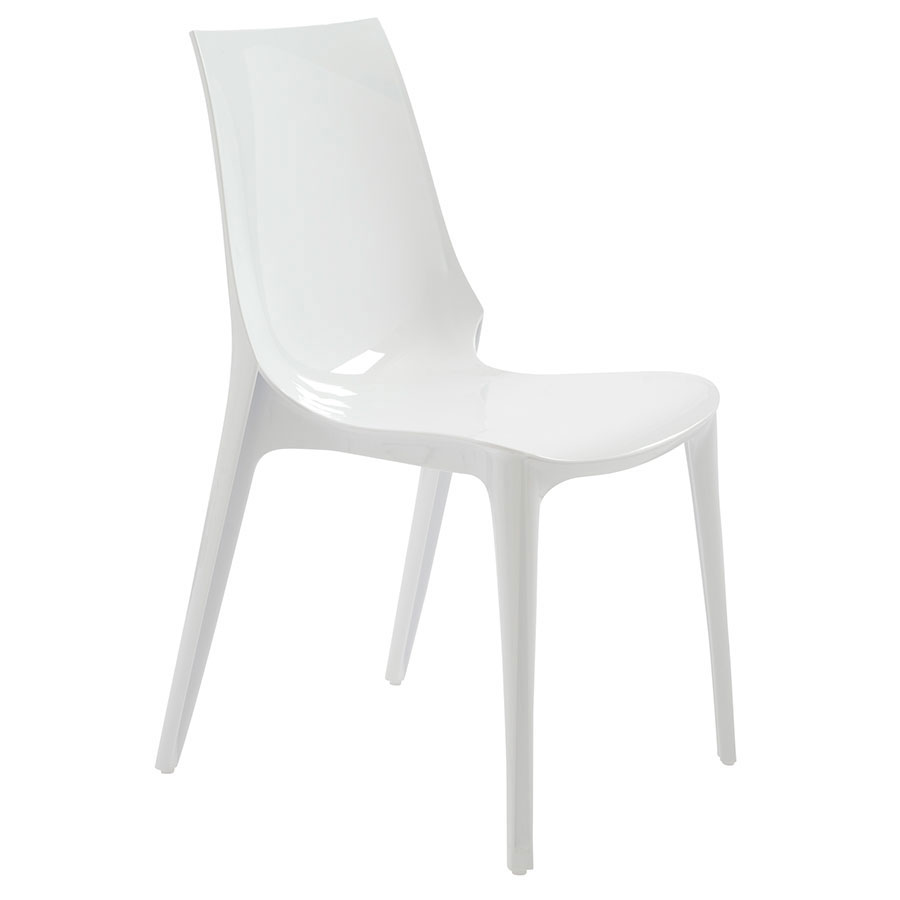 Verona Modern Glossy White Side Chair