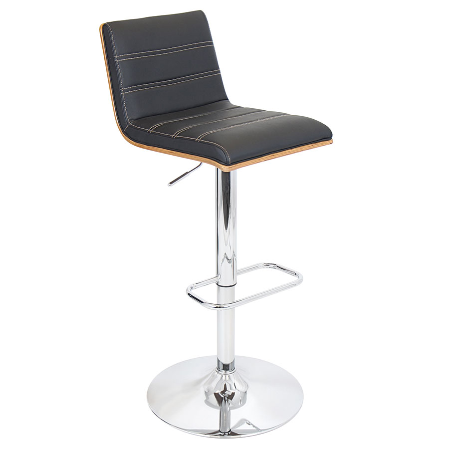 Vikram Modern Adjustable Black Bar Stool