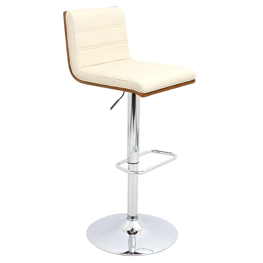 Vikram Modern Adjustable Cream Bar Stool