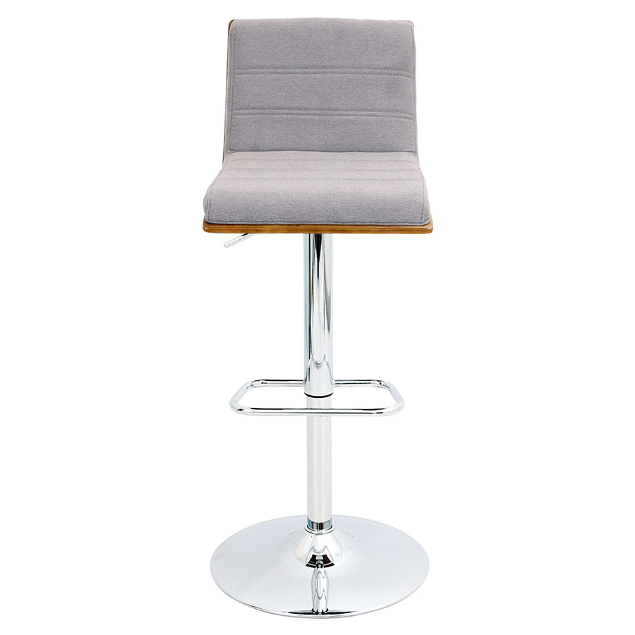 Vikram Modern Adjustable Stool in Gray - Front View