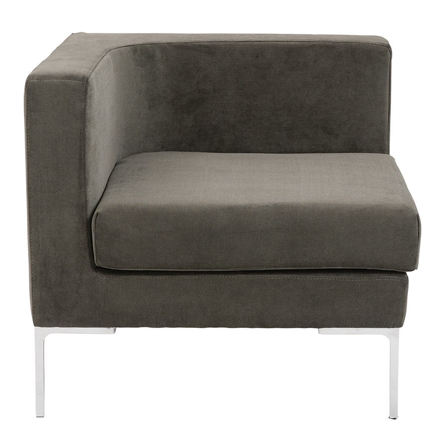 Vittorio Dark Gray Contemporary Corner Chair
