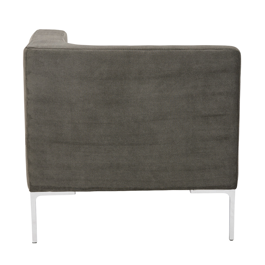 Vittorio Dark Gray Fabric Modern Corner Chair