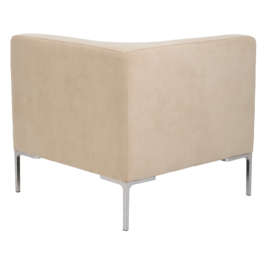 Vittorio Tan Fabric Contemporary Corner Chair