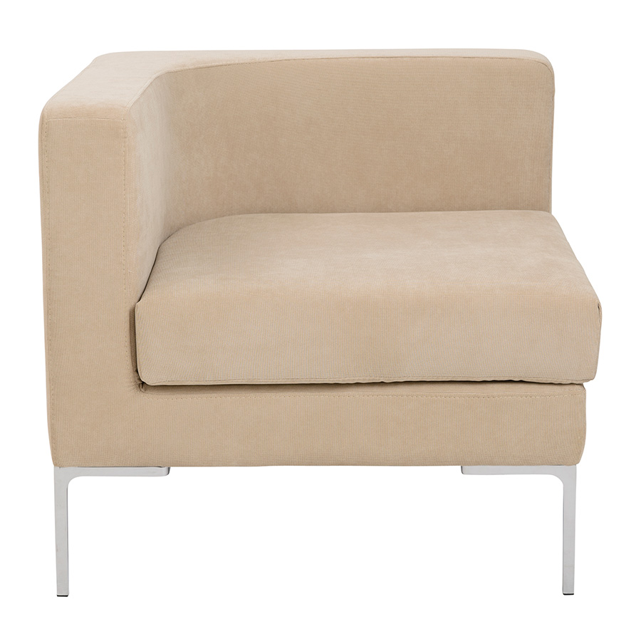 Vittorio Tan Contemporary Corner Chair