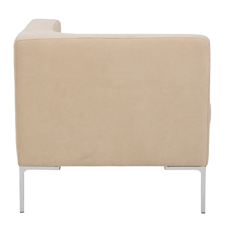 Vittorio Tan Fabric Modern Corner Chair