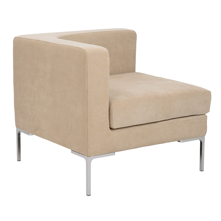 Vittorio Tan Modern Corner Chair