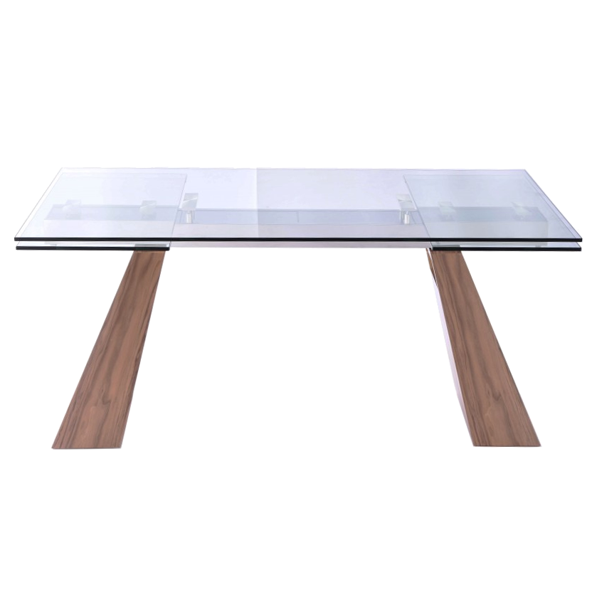 Vittorio Walnut Contemporary Extension Dining Table