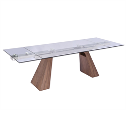 Vittorio Walnut Modern Dining Table