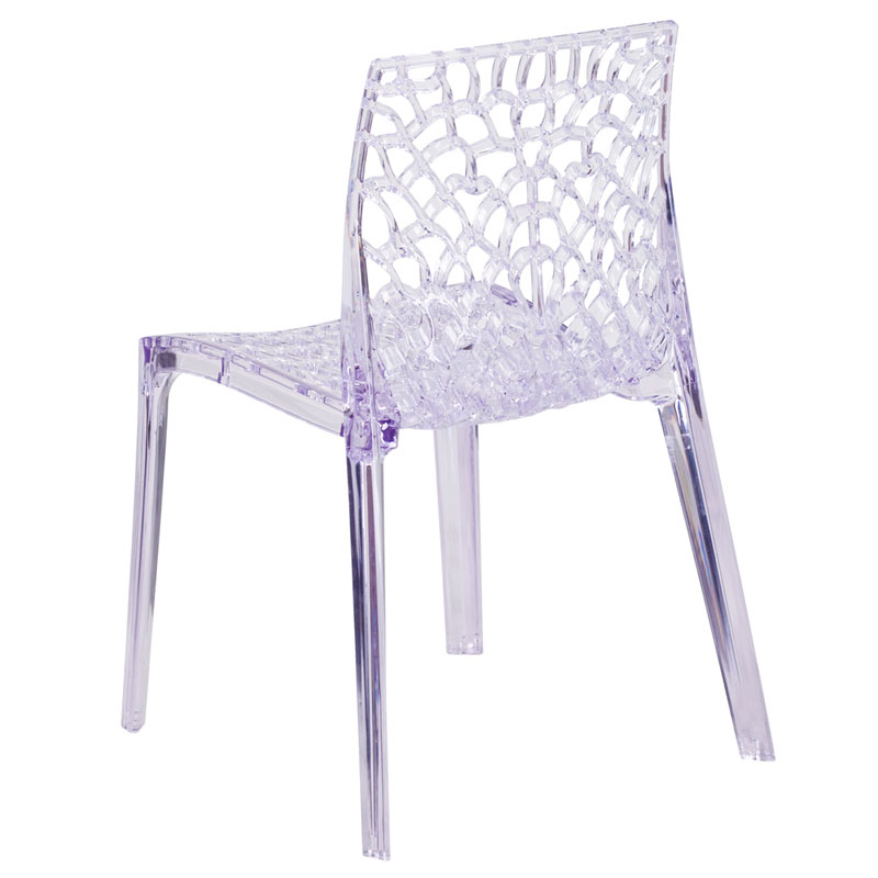 Vive Modern Transparent Stacking Chair - Back View