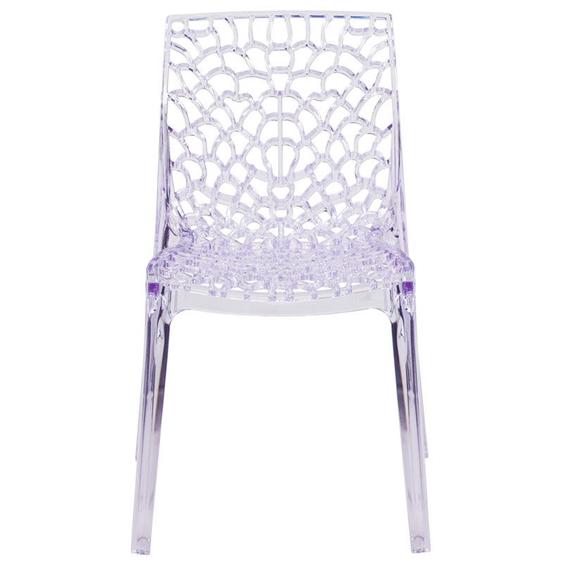 Vive Modern Transparent Stacking Chair - Front View