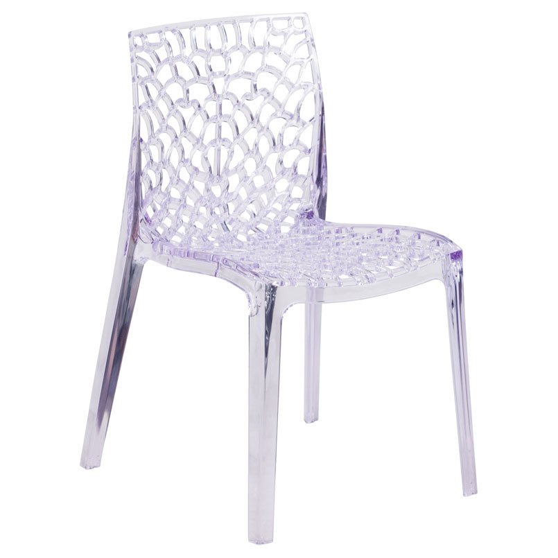 Vive Modern Transparent Stacking Chair