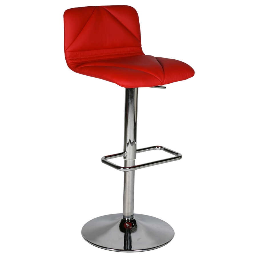 Vivo Red Modern Adjustable Height Stool