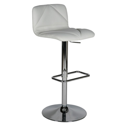 Vivo White Modern Adjustable Height Stool