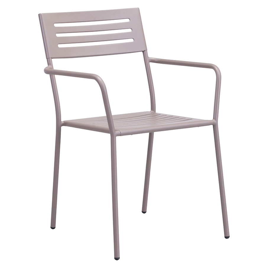 Walter Taupe Modern Arm Chair