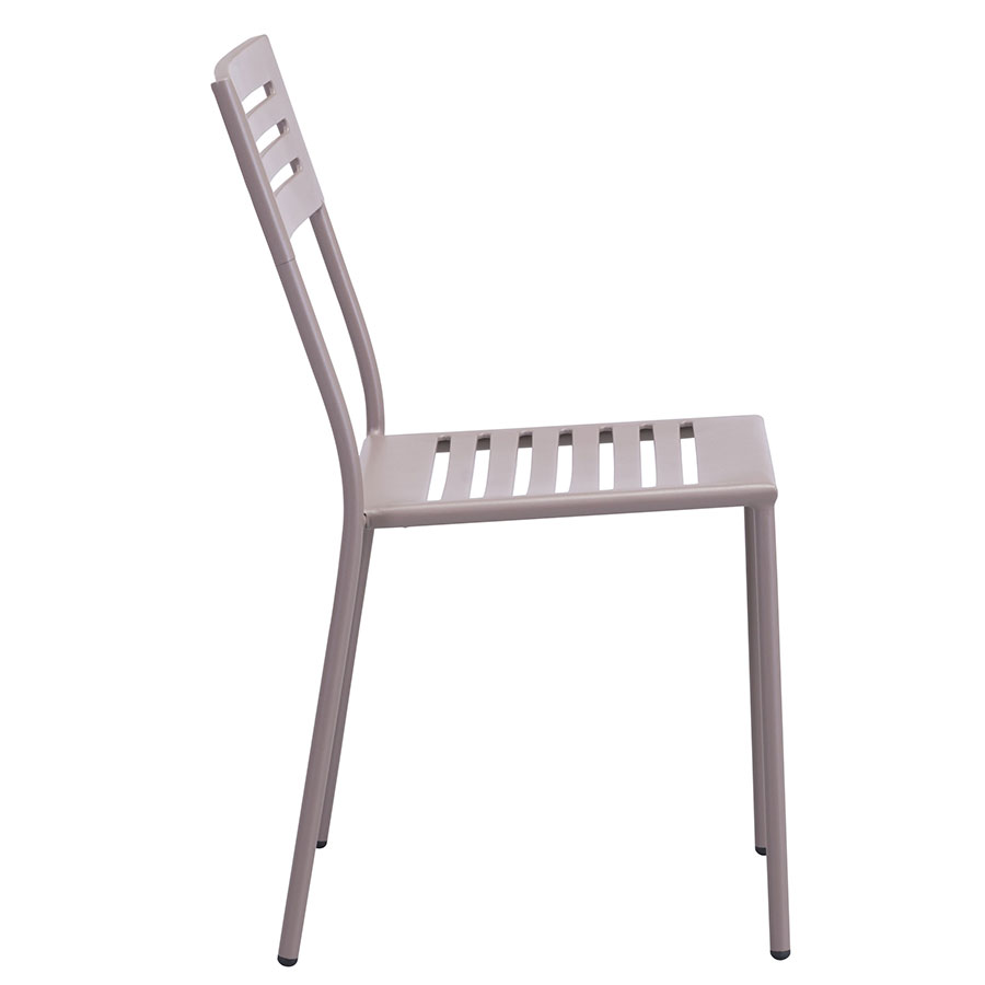 Walter Taupe Modern Outdoor Side Chair