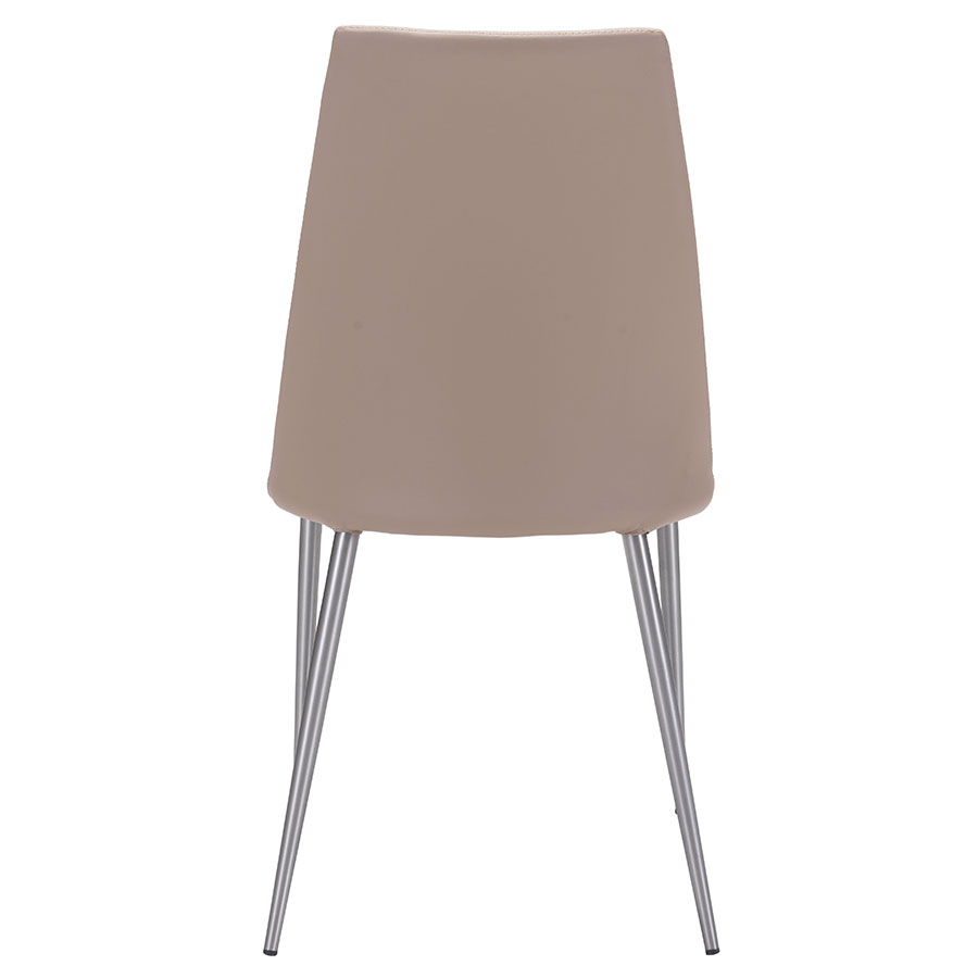 Warner Beige Leatherette Contemporary Dining Chair