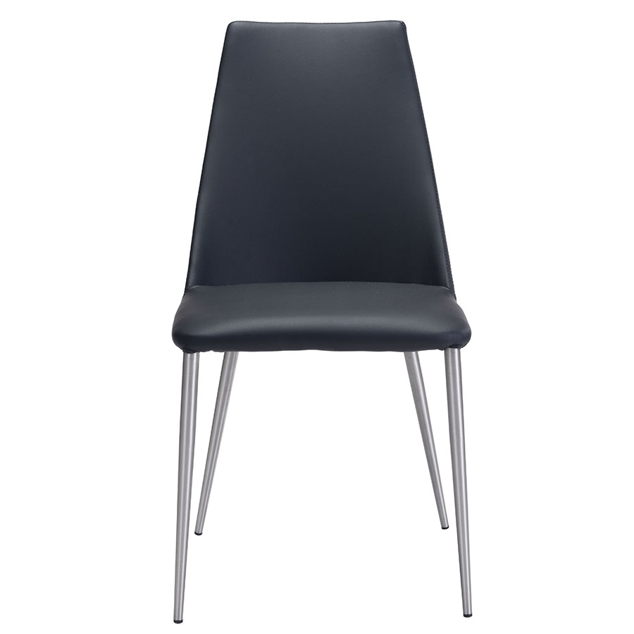 Warner Black Contemporary Dining Chair
