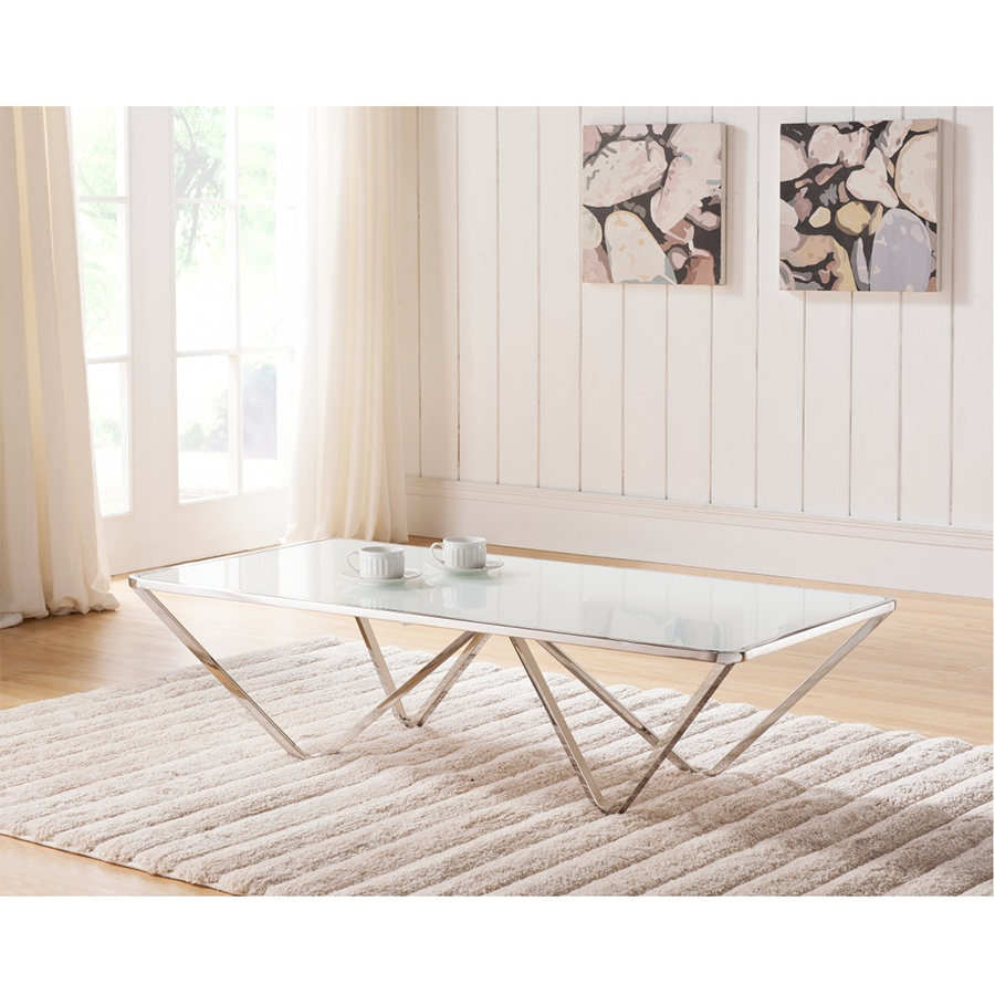 Wave Contemporary Rectangle Coffee Table