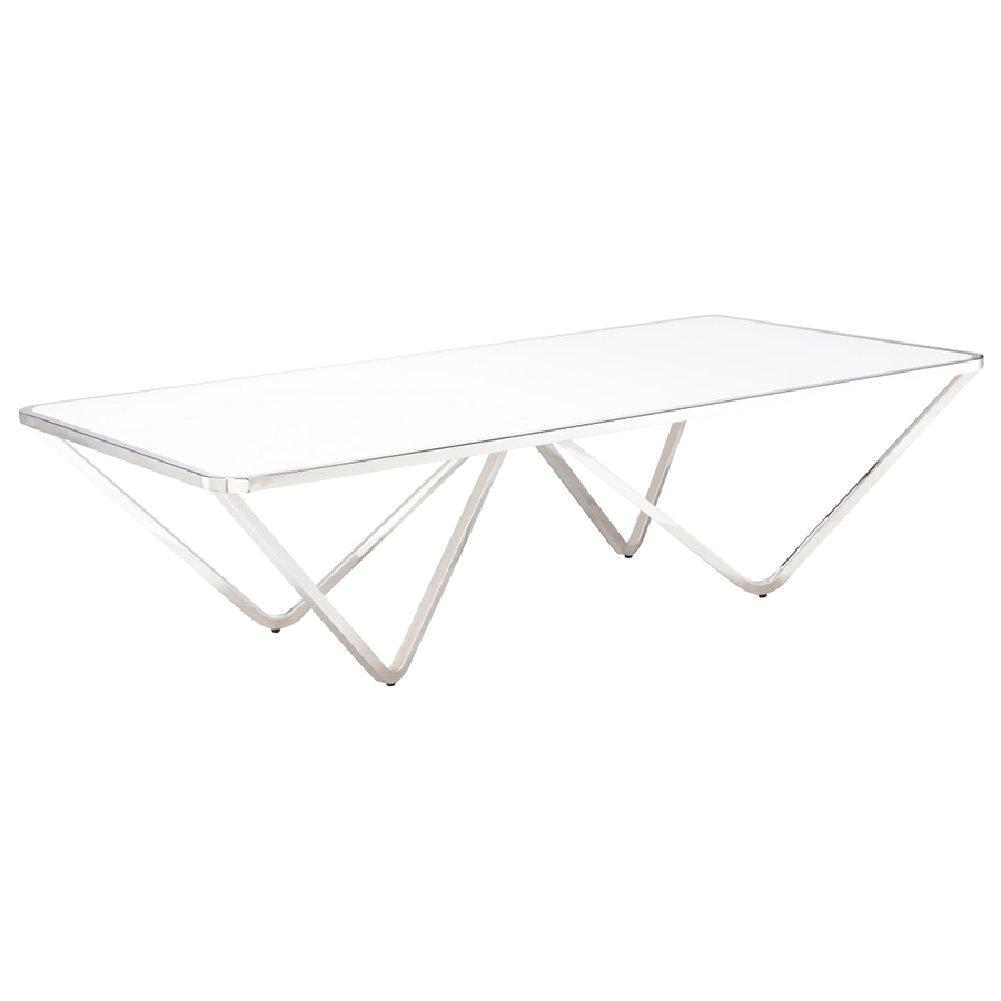 Wave Modern Rectangle Coffee Table