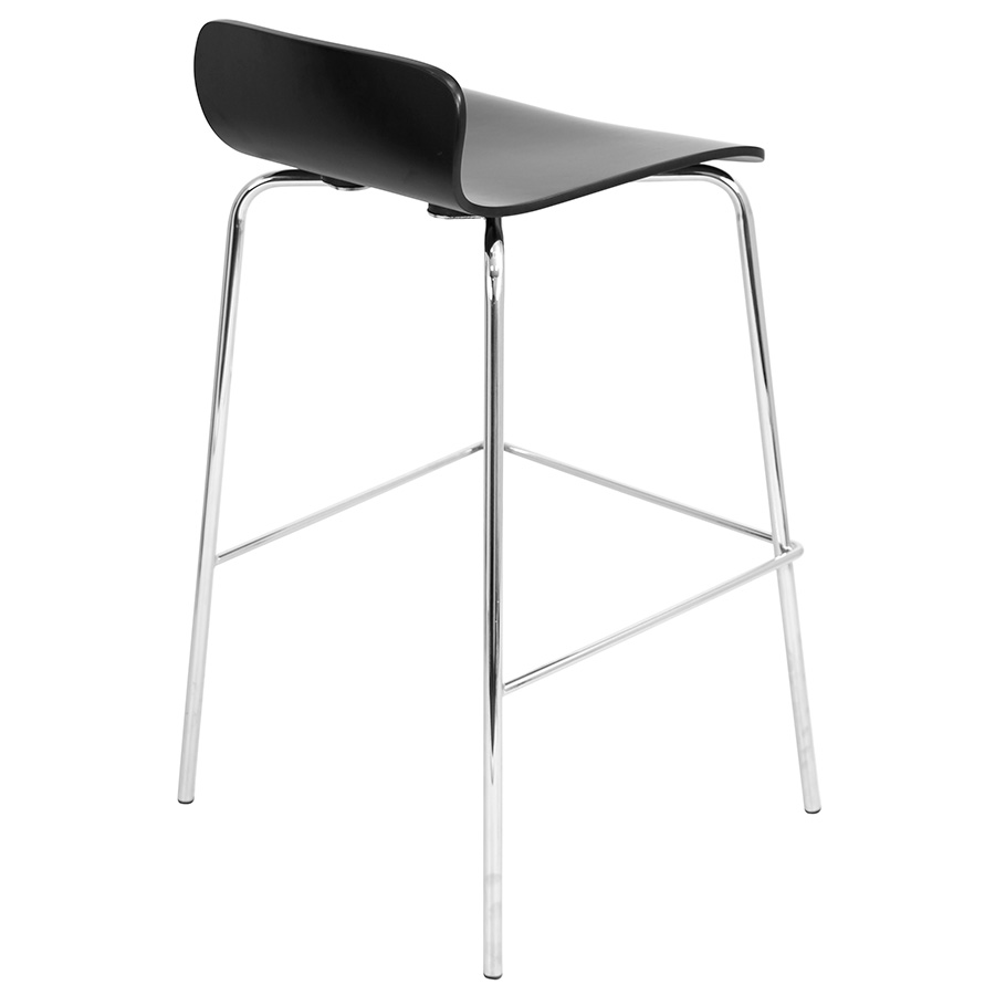 Weatherford Modern Black Stacking Bar Stool - Back View