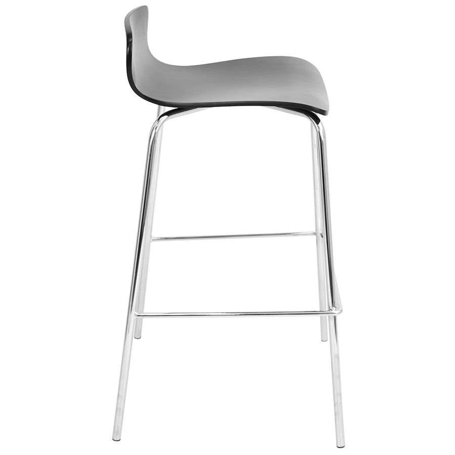 Weatherford Modern Black Stacking Bar Stool - Side View