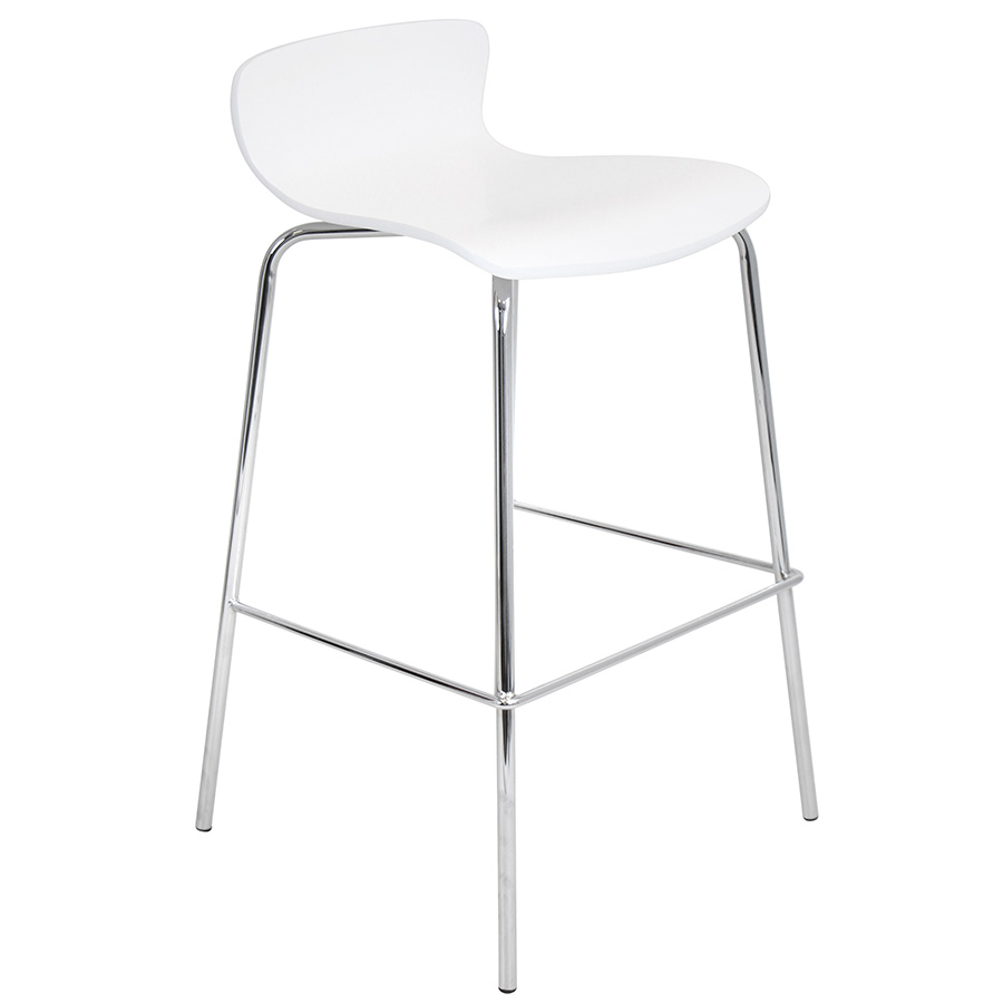 Weatherford Modern White Stacking Bar Stool
