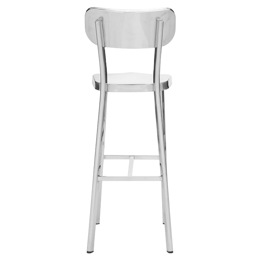 Weiland Polished Contemporary Bar Stool
