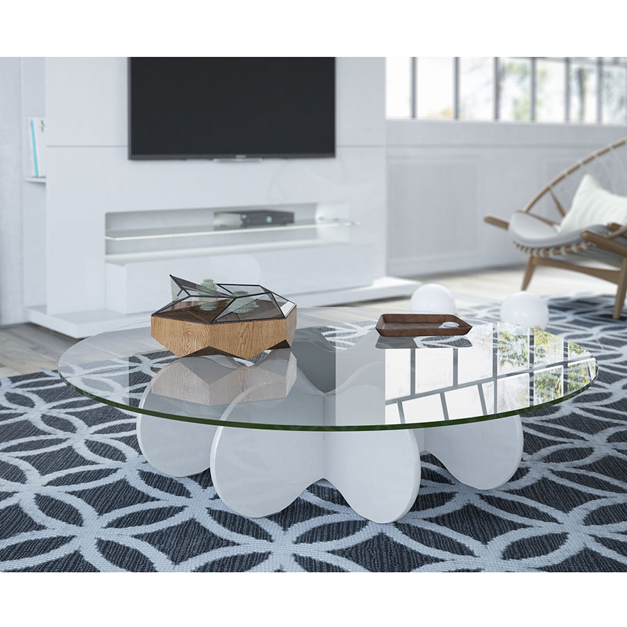 Wellington Modern Off White Cocktail Table