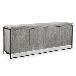 Wendall Gray Washed Elm Modern Buffet