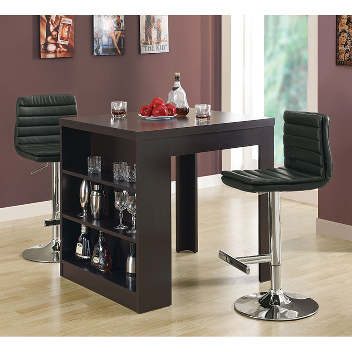 Wendy Contemporary Black Adjustable Bar Stool