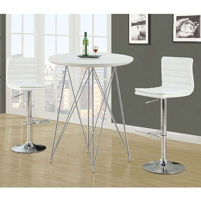 Wendy Modern White Adjustable Height Stool