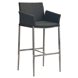Wenworth Modern Charcoal Gray Modern Bar Stool