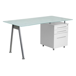 Werner White Modern Desk