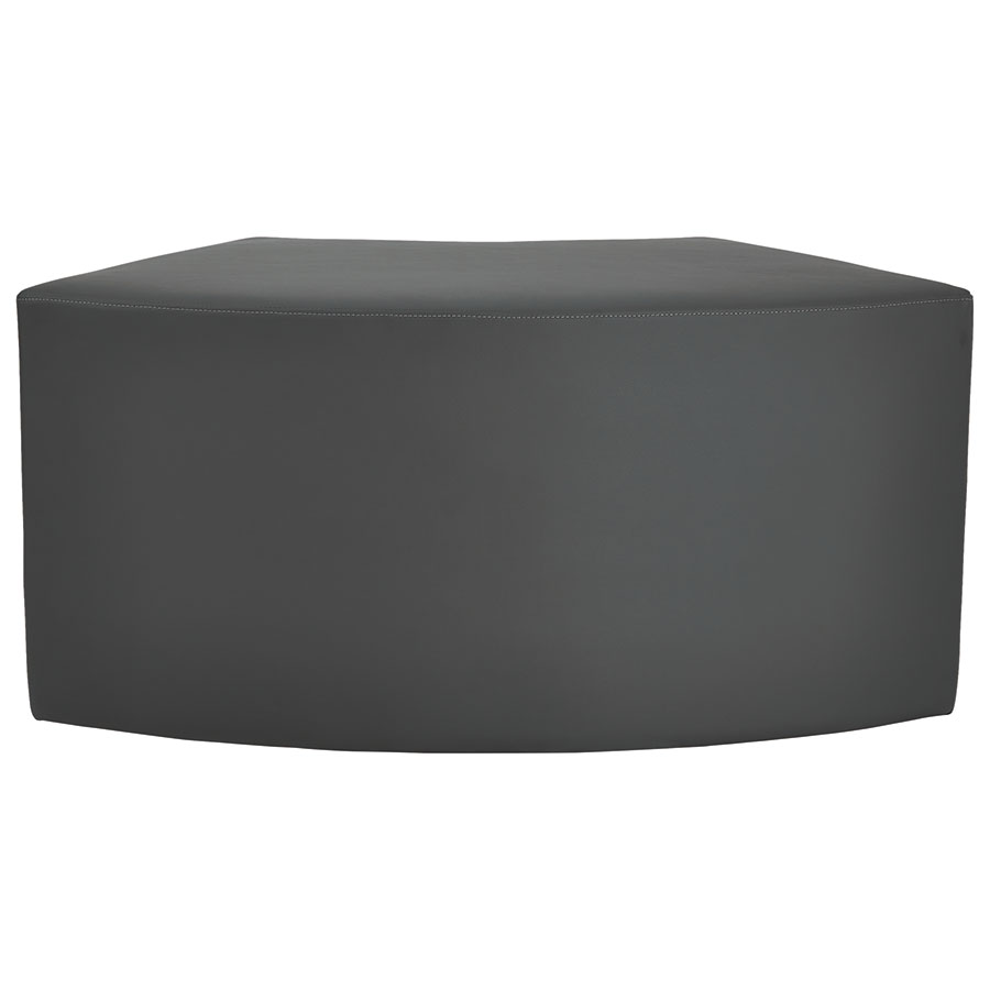 Westin Modern Arc Bench in Slate Leather - Back View
