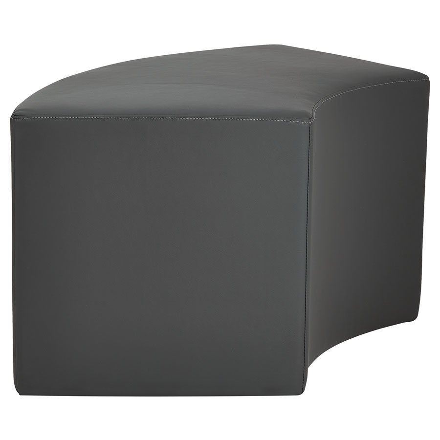 Westin Modern Arc Bench in Slate Leather - Side View
