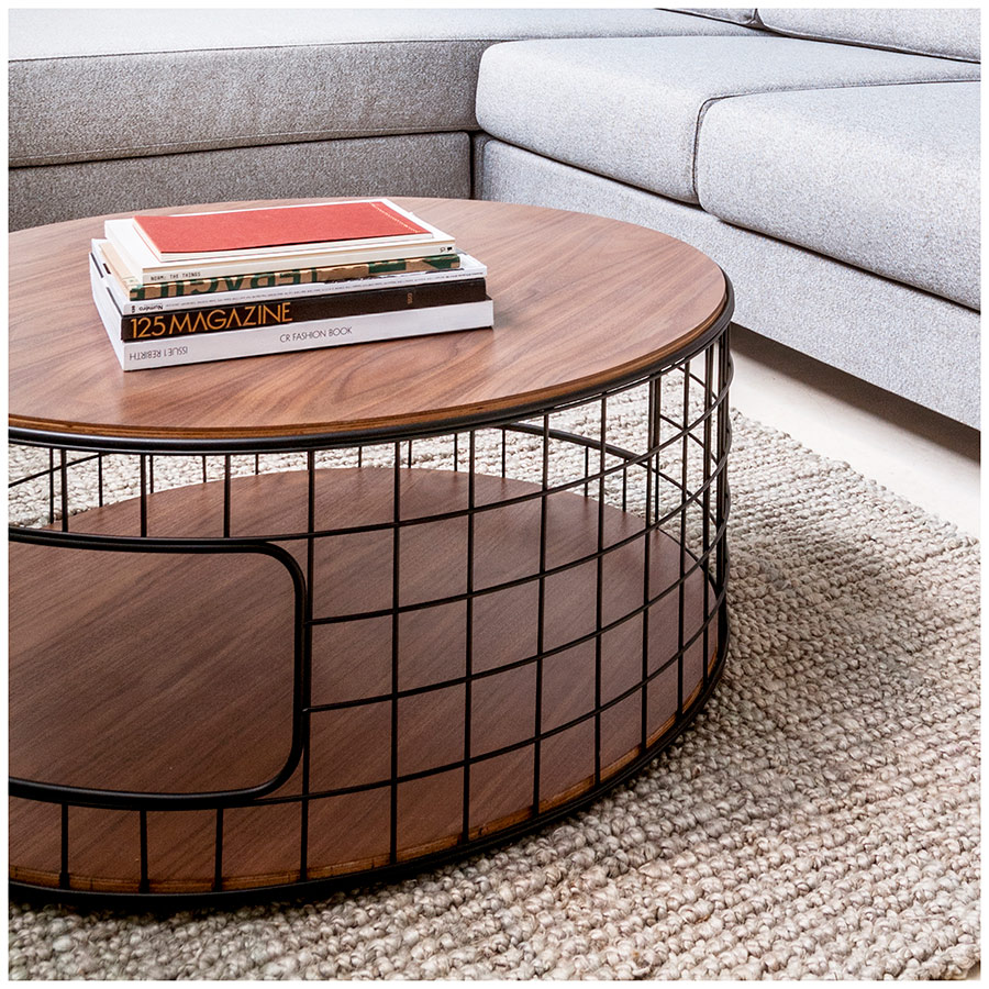 Gus Modern Wireframe Cocktail Table