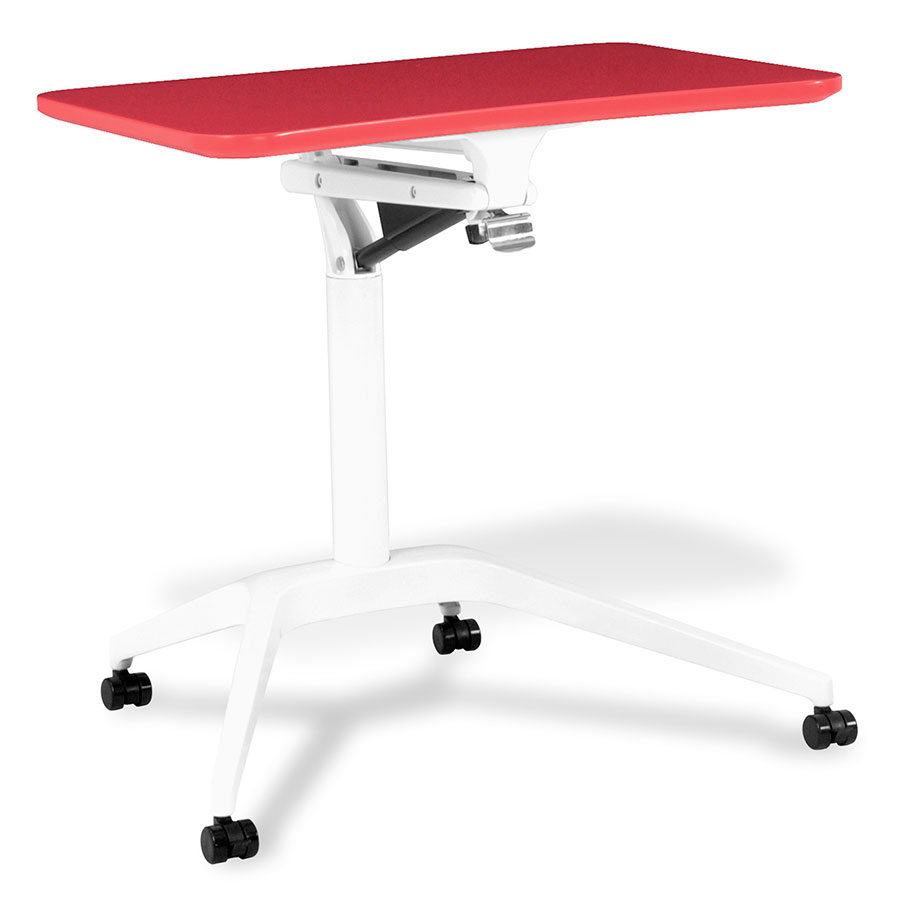 Workpad Modern Adjustable Laptop Desk in Red/White
