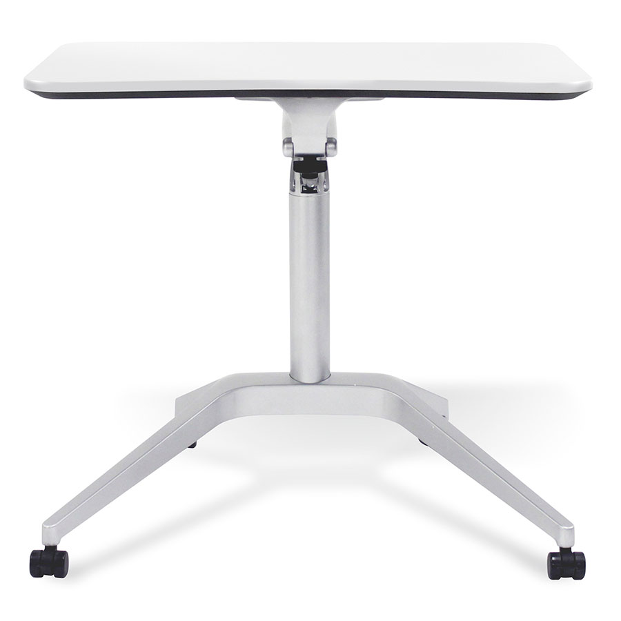 White Workpad Adjustable Laptop Desk - Front/Down