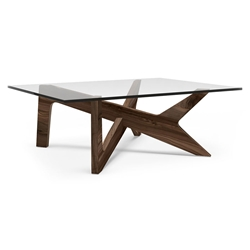 Xavier Solid American Walnut Modern Coffee Table