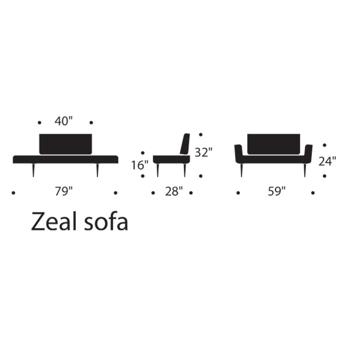 Zeal Modern Daybed Dimensions