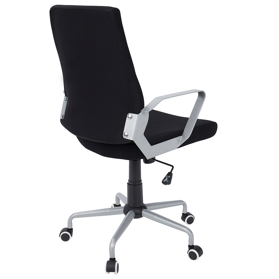 Zeno Black Fabric + Metal Contemporary Office Chair