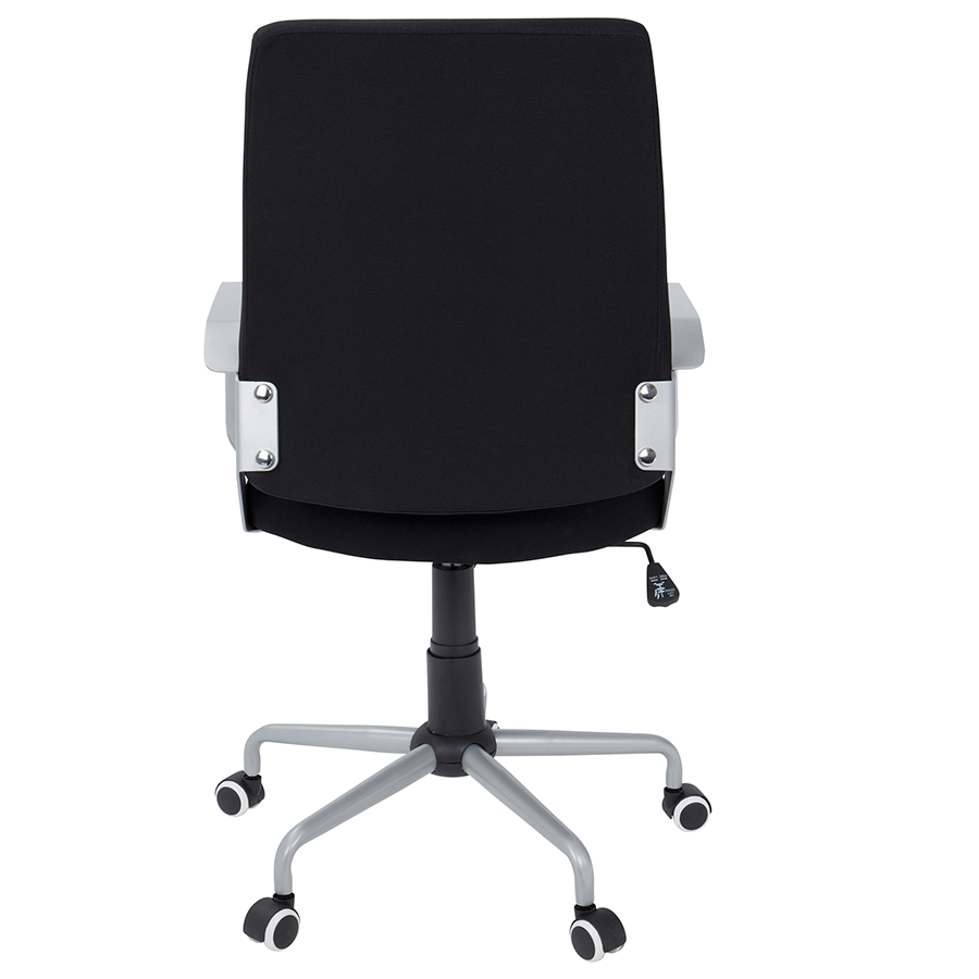 Zeno Black Fabric + Metal Contemporary Adjustable Office Chair