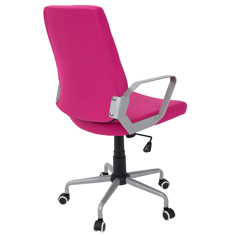 Zeno Pink Fabric Contemporary Office Chair