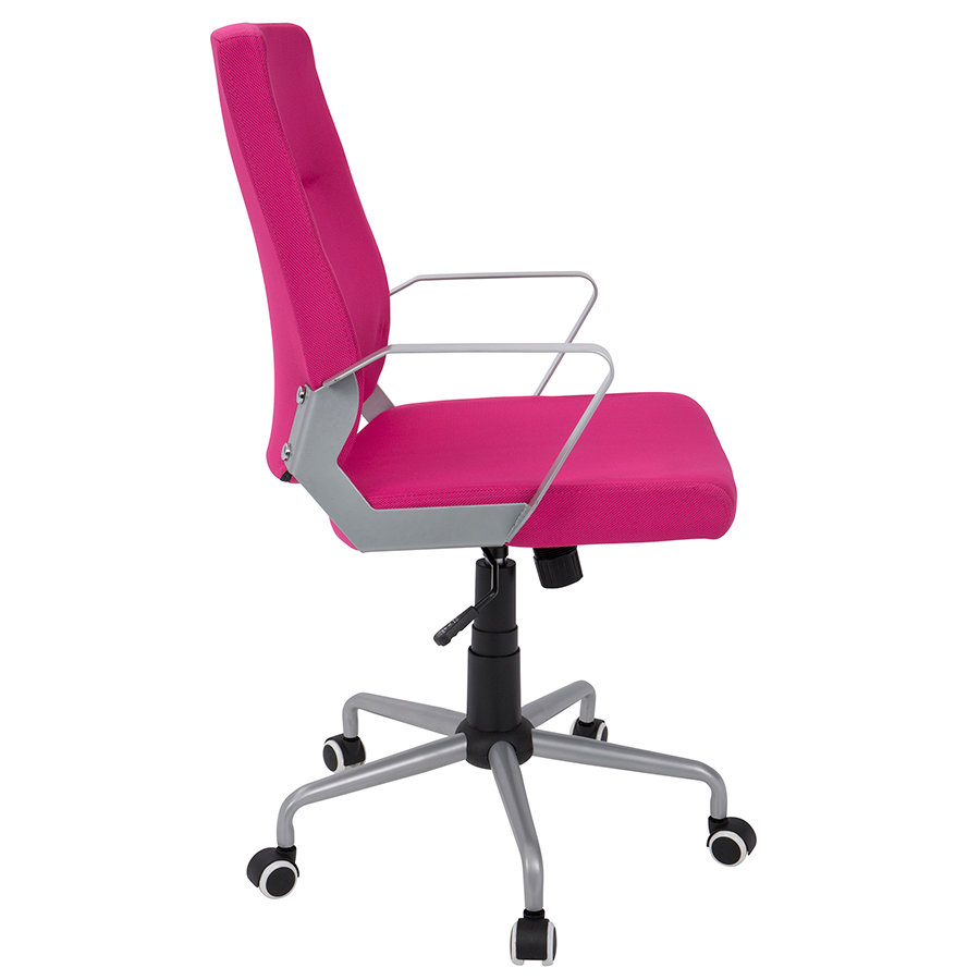 Zeno Pink Fabric Modern Office Chair