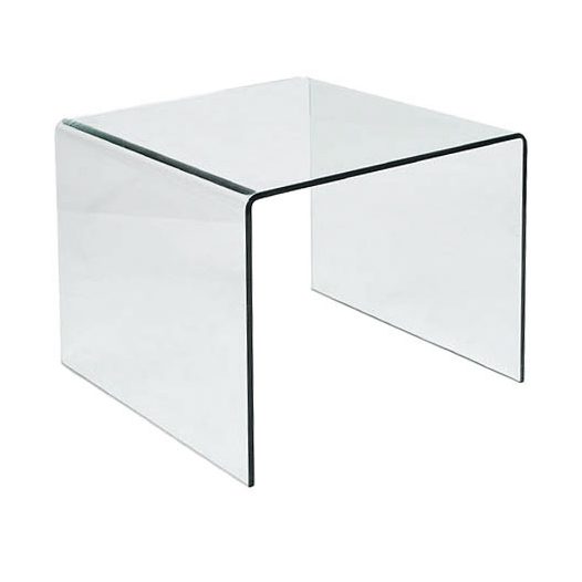 Abbott 16.5 Inch Glass End Table