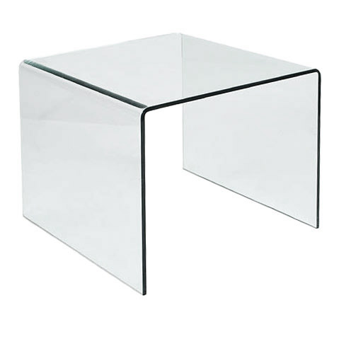 Abbott 24 Inch Glass End Table