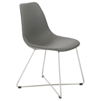 agatha modern leatherette dining chair